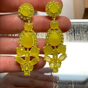 JCrew yellow earrings
